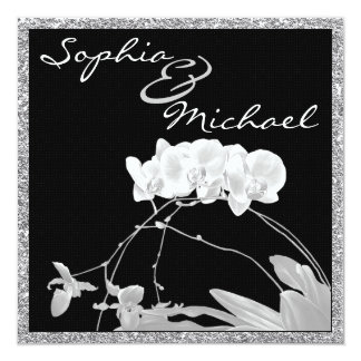 Gorgeous Orchid Wedding Invitation