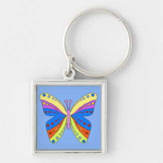 Gorgeous original design spotted butterfly keychain
