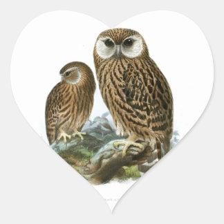 GORGEOUS OWLS HEART STICKER