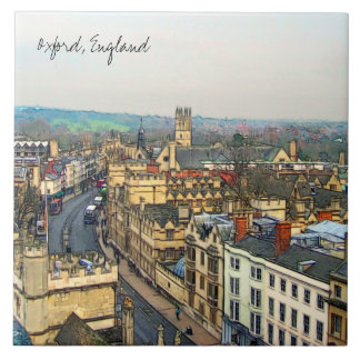 Gorgeous Oxford, England, High Street, The High #1 Ceramic Tile