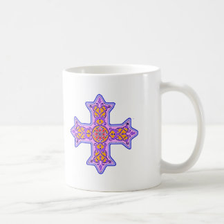 Gorgeous Pastel Coptic Cross Coffee Mug