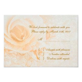 Gorgeous peach cream roses RSVP Card