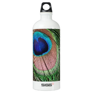 Gorgeous Peacock Feather Design Aluminum Water Bottle