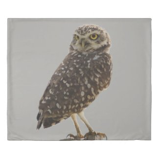 Perched Owl Duvet Cover
