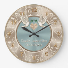 Gorgeous Personalized Wedding Clock With Your Text at Zazzle
