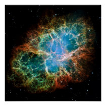 Gorgeous Photo of the Crab Nebula Poster