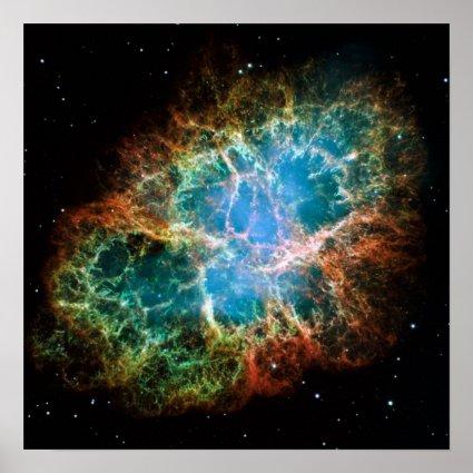 Gorgeous Photo of the Crab Nebula Print