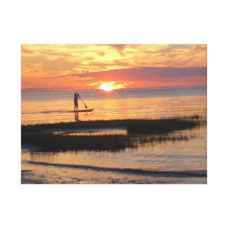 Gorgeous picture of Man on Waterboard in Cape Cod Canvas Print
