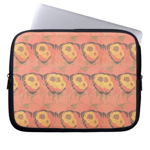 Gorgeous Pink Abstract Floral  Computer Sleeves