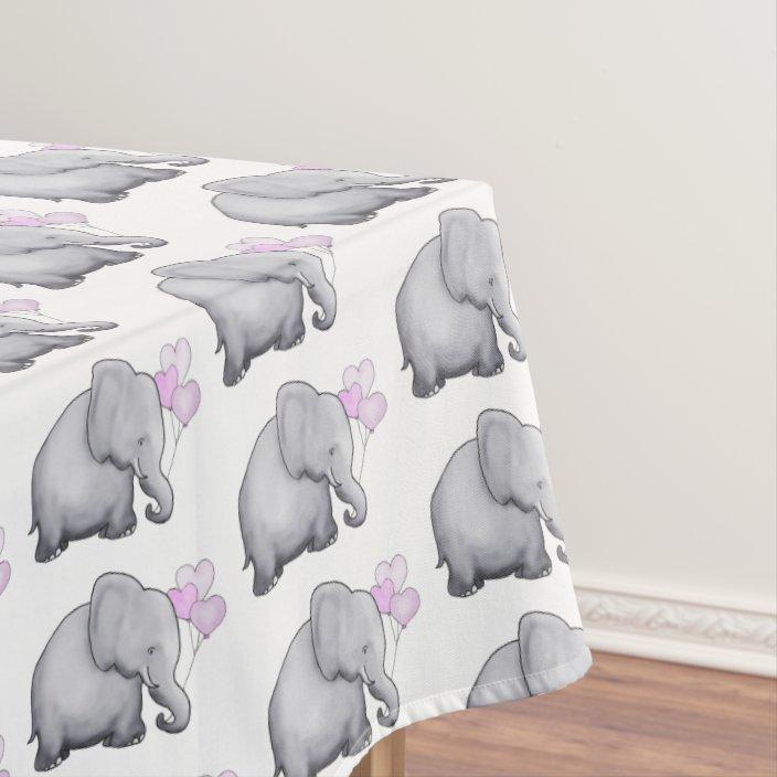 Pink Elephants Baby Shower Nursery