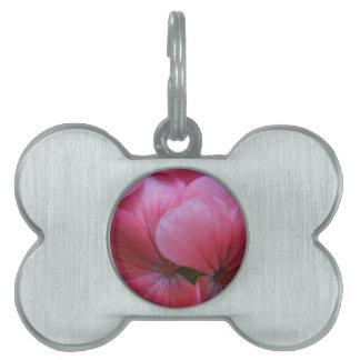 Gorgeous Pink Flower Design. Pet Name Tag