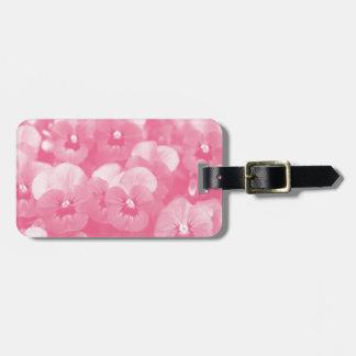GORGEOUS PINK GARDEN FLORAL BAG TAG