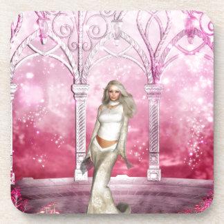 Gorgeous Pink Gazebo Elf Drink Coaster