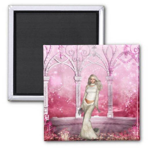 Gorgeous Pink Gazebo Elf Fridge Magnet