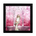 Gorgeous Pink Gazebo Elf Jewelry Box