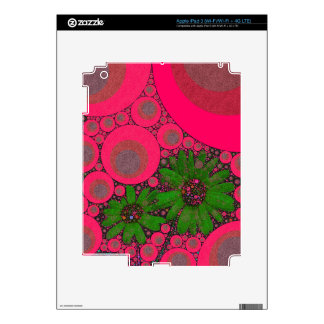 Gorgeous Pink Green Flower Abstract iPad 3 Skins