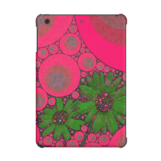 Gorgeous Pink Green Flower Abstract iPad Mini Cover