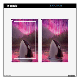 Gorgeous Pink Killer Whale Orca Kindle Fire Skin