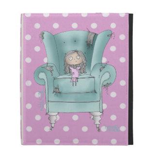 Gorgeous Pink Polka Dot & Teal Designer ipad Case