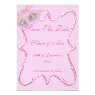 Gorgeous Pink Save the Date Card