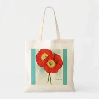 Gorgeous Poppies: 1940 illustration Budget Tote Bag