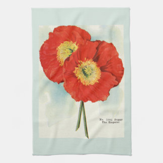 Gorgeous Poppies: 1940 illustration Hand Towels