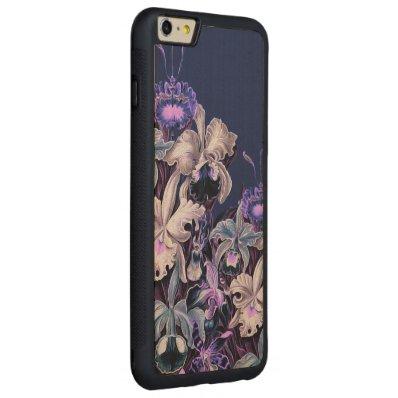 Gorgeous Purple Blue Vintage Flowers Carved® Maple iPhone 6 Plus Bumper