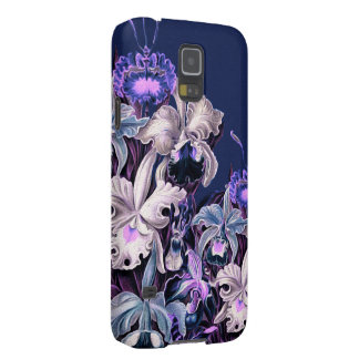 Gorgeous Purple Blue Vintage Flowers Galaxy S5 Cases