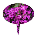 GORGEOUS PURPLE FLORAL OVAL CAKE TOPPERS