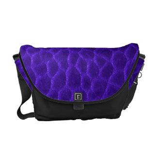 Gorgeous Purple Leather Texture Courier Bag