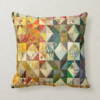 Gorgeous Quilt Look Throw Pillow