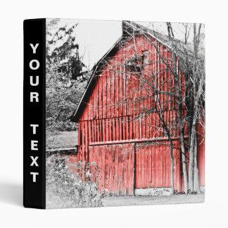 Gorgeous Red Barn 3 Ring Binder