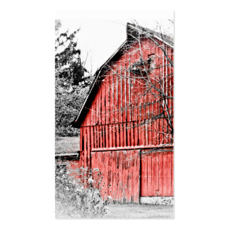 Gorgeous Red Barn Business Cards