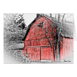 Gorgeous Red Barn Card