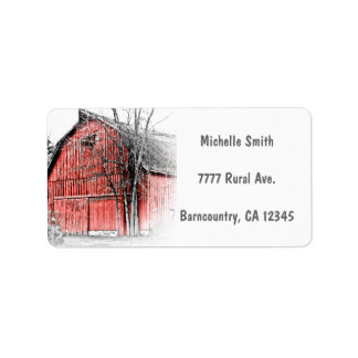 Gorgeous Red Barn Label