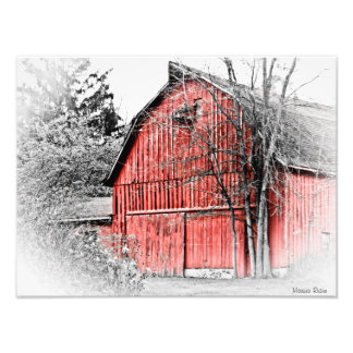 Gorgeous Red Barn Photo Print