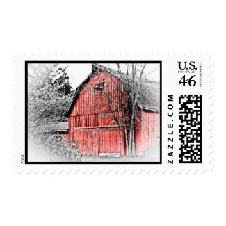Gorgeous Red Barn Postage Stamps