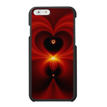 Gorgeous Red Fractal Heart iPhone 6/6s Wallet Case