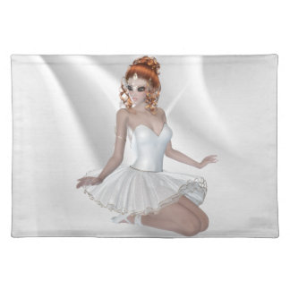 Gorgeous Red Hair Ballerina Placemats
