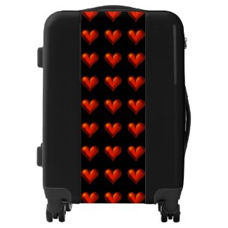 Red Hearts Carry on Suitcase