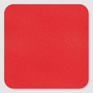 Gorgeous Red Leather Texture Square Sticker