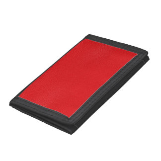 Gorgeous Red Leather Texture Tri-fold Wallet