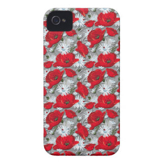 Gorgeous red poppies summer flowers pattern Case-Mate iPhone 4 case