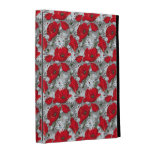 Gorgeous red poppies summer flowers pattern iPad folio case