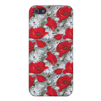 Gorgeous red poppies summer flowers pattern case for iPhone SE/5/5s