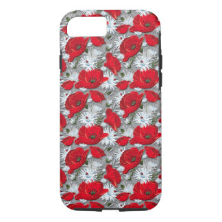Gorgeous red poppies summer flowers pattern iPhone 7 case
