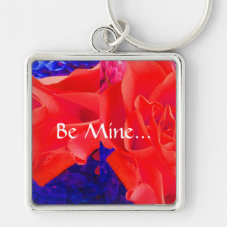 Gorgeous Red Red Rose X Keychain