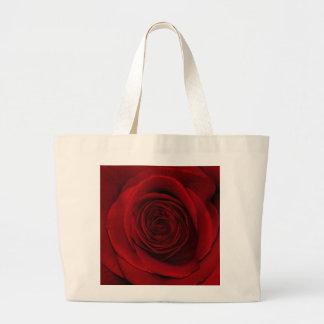 Gorgeous Red Rose Macro Photo Large Tote Bag