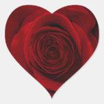Gorgeous Red Rose Macro Photo Sticker