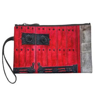 Gorgeous Red Rustic Wood Door Wristlet Purse